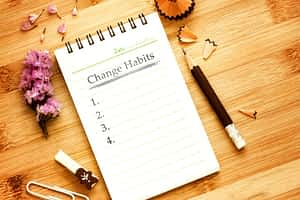 notepad for listing habits to change