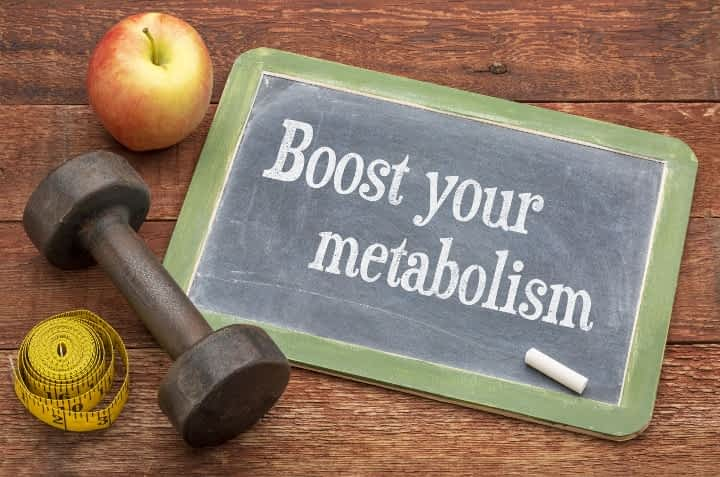 Boost your metabolism chalkboard weight tape measure apple