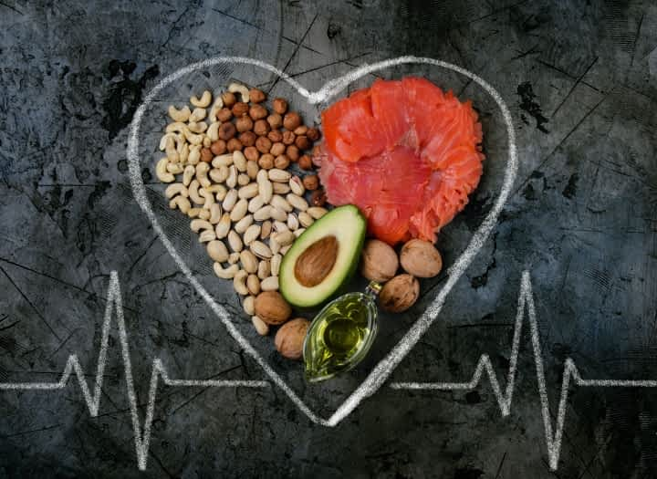 low-carb foods inside of chalk heart