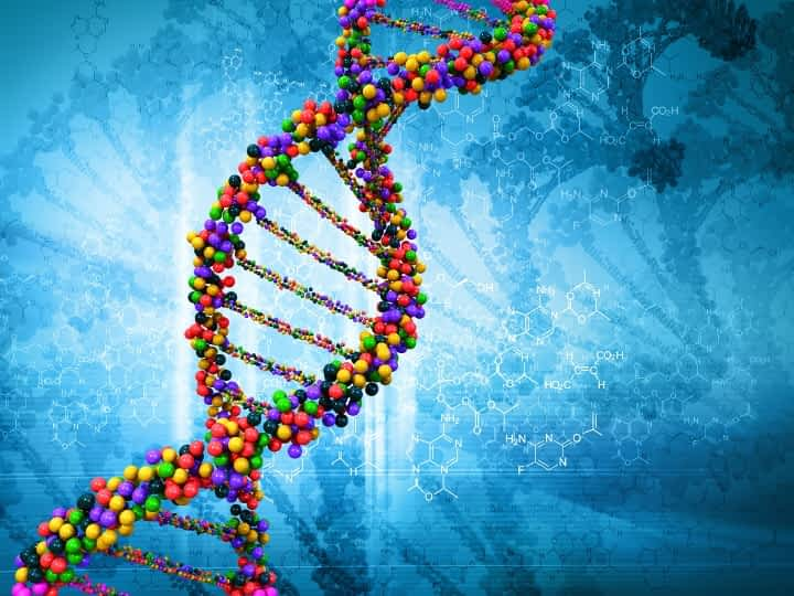 colorful DNA strands