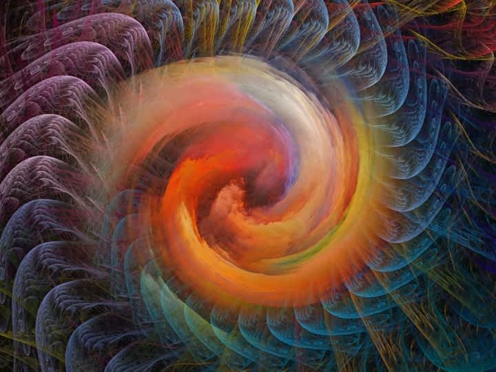 hypnotic multi-colored swirl